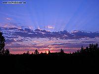 Superfin solnedgång
